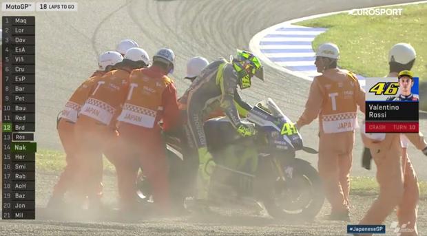 Valentino Rossi chute Japon Motegi 2016