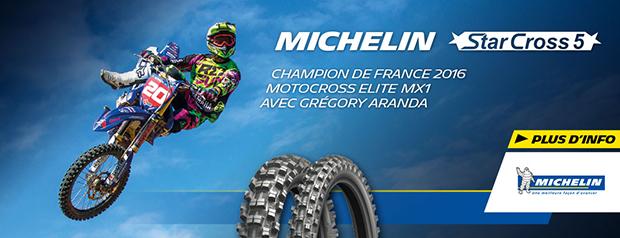 Nouveauté Michelin Starcross 5 2016
