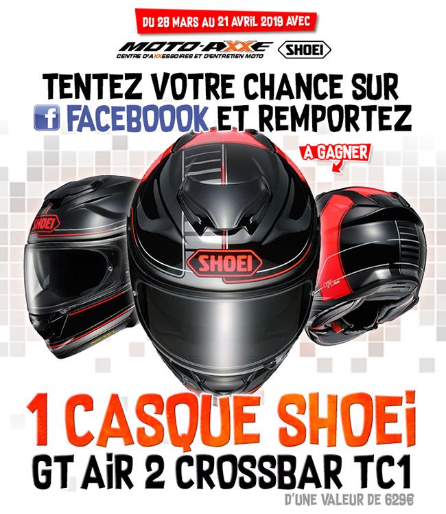 chaussures de sport 5c858 1e8b7 Moto Axxe France - Jeu Concours : 1 Casques SHOEI GT Air 2 ...