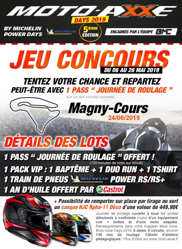 Moto Axxe France Jeu Concours Moto Axxe Days 2019 Magny Cours
