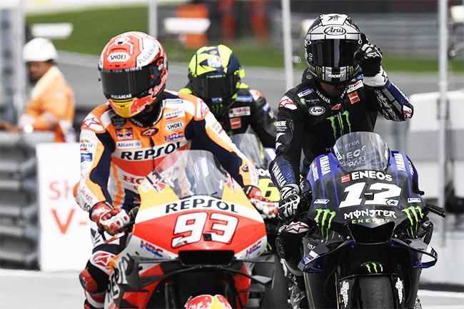 Marc Marquez et Maverick Viñales - MotoGP Sepang 2019